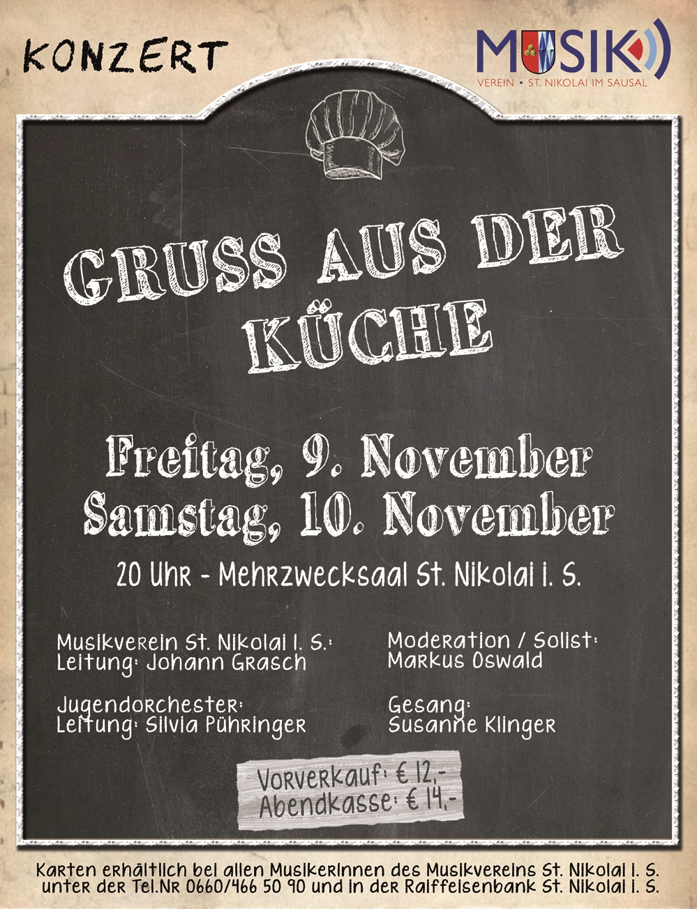 """Konzerte """"Gruß aus der Küche"""""""